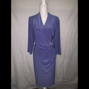 NWT Anne Klein Purple Dress